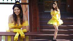 kostüm inspiration belle disney gelbes kleid tutu röckchen frisur