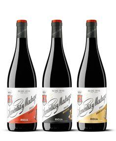 Packaging para la familia de vinos de Arméntia y Madrazo