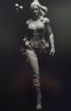 3d Model Character, Female Character Design, Character Modeling, Character Art, Character Online, Comic Art Girls, 3d Figures, Modelos 3d, Warrior Girl