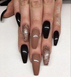 Fall Acrylic Nails, Acrylic Nail Designs, Nail Art Designs, Brown Nail Designs, Nails Design, Burgundy Nail Designs, Brown Nail Art, Brown Nails, Black Nails