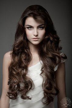 wedding hair -- long loose curls