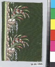 Embroidery Sample, late 18th-early 19 century, French