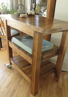DIY Pallet Made #Kitchen Island Table | 101 Pallets