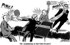 The culmination of pingpong diplomacy (Greenberg 1978)