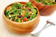 Kale Salad with Roasted Asparagus and Tarragon Vinaigrette