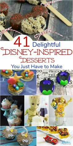41 Delightful Disney-Inspired Desserts You Just Have to Make Disney Dishes, Disney Desserts, Disney Snacks, Disney Diy, Disney Recipes, Disney Activities, Disney Ideas, Halloween Activities, Disney Themed Food