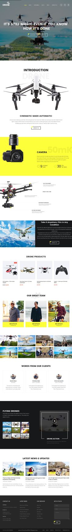Drone is wonderful Single Product #WordPress theme built with #WooCommerce platform comes with 3 amazing pre-built homepage layouts. #webdesign Download Now!