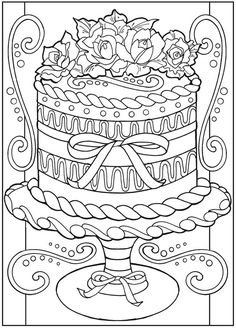 Creative Haven Designer Desserts Coloring Book Welcome to Dover Publications