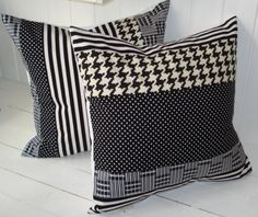 houndstooth pillows - perfect for the man cave
