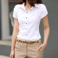Shirt Ol Blouse Women Sleeve Long Tops Button Casual Office Ladies For – stylebacha Office Fashion Women, Work Fashion, Women's Fashion, The Office Shirts, Casual Skirt Outfits, Casual Shirt, Business Shirts, Business Casual, Women Sleeve
