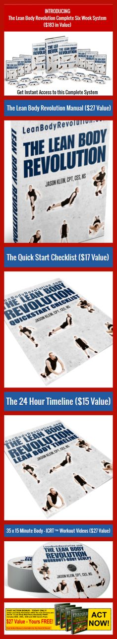 Discover The Worlds First Time Efficient Lean Body Workouts Through Interval Cardio Resistance Training. http://smb05.com/lean-body-revolution
