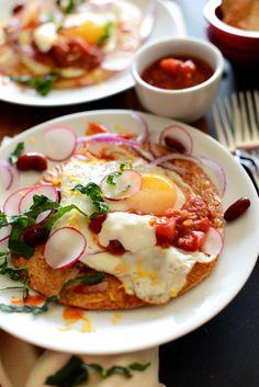 Gluten Free Breakfast Tostadas by minimalistbaker #Tostados #Healthy #GF