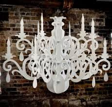 Large cardboard chandelier white black big laser cut by fabparlor diy template for paper chandelier mozeypictures Images