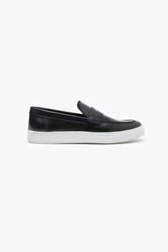 Polished Leather Slip-On Loafers