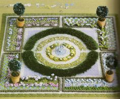 embroidered knot garden - Google Search