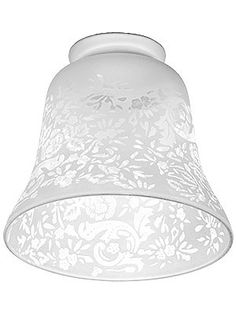 """Etched Rose Pattern Shade With 2 1/4"""" Fitter"""