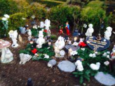 Billed fra gravsted ved juletid