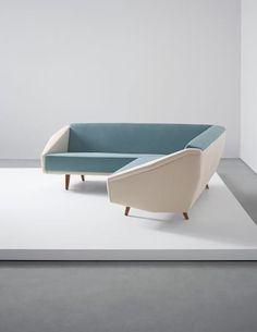 Gio Ponti, Unique 'Diamond' sofa, designed for a Villa, Liguria