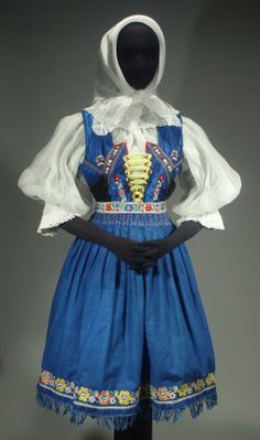 Slovak Folk Costume Ethnic Outfit Embroidered Blouse Vest Skirt Apron Shawl Kroj | eBay