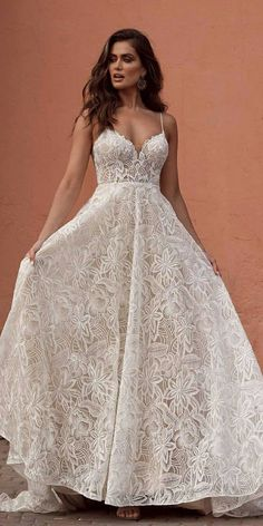 10 Wedding Dress Designers You Want To Know About ❤ wedding-dress-designers-a-line-with-spaghetti-straps-sweetheart-neckline-madi-lane #weddingforward #wedding #bride