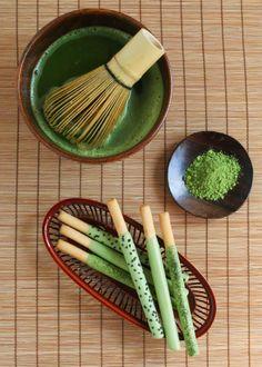 Tea Recipe: Homemade Green Tea Pocky, by @thirsty® designed goods® designed goods For Tea.