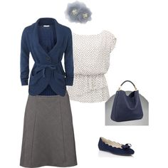 Blue + gray, very simple, very classic