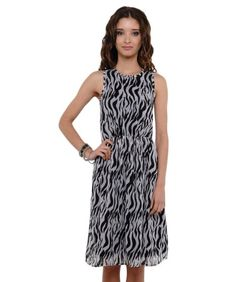Amazon.com: Scoop neck Ruched waist print dress: Clothing