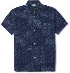 EdwinNimes Short-Sleeved Floral-Print Denim Shirt|MR PORTER