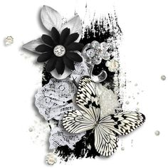 скрап-наборы ❤ liked on Polyvore featuring fillers, backgrounds, flowers, clusters, butterflies and effects
