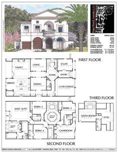 Unique Two Story House Plan, Floor Plans for Large 2 Story Homes, Desi – Preston Wood & Associates Two Story House Plans, 2 Story Houses, Dream House Plans, Small House Plans, House Floor Plans, Floor Plans 2 Story, Unique Floor Plans, The Plan, Architecture Sketches