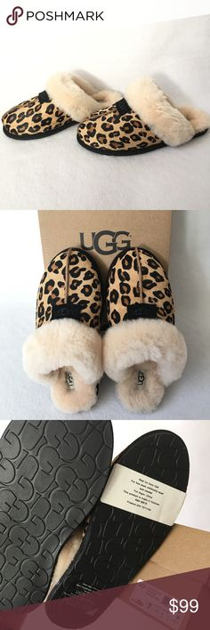 Authentic UGG Leopard Sandals 100 AUTHENTIC. Gorgeous calf hair leopard sandals from Ugg. Very soft and very comfortable. Size 7. New w/ tag attached to the box. UGG Shoes Sandals