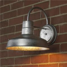 Barn outdoor wall light in galvanized steel or colors! Want these in the bathroom!