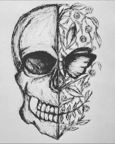 easy to sketch flowers – golfpachucacom sketch drawing easy - Sketch Drawing Dark Art Drawings, Pencil Art Drawings, Beautiful Drawings, Art Drawings Sketches, Drawing Sketches, Drawing Drawing, Sketching, Sketch Art, Skull Sketch