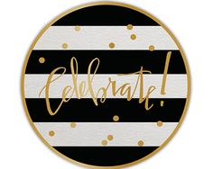 These festive black, white, and gold coasters are whimsical decor for any celebration! Black White Gold, Black Stripes, 60th Birthday Party, Birthday Brunch, Carnival Birthday, Gold Coasters, Kate Spade Bridal, Bridal Shower Favors, Bridal Showers