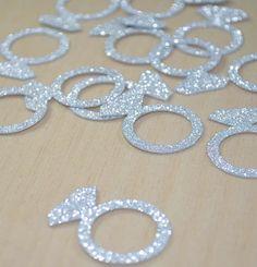 JUMBO Bling Diamond Engagement Ring CONFETTI for bridal showers, bachelorette…