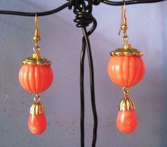 Vintage Faux Coral Earrings