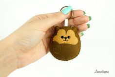 SQUIRREL KEYRING felt squirrel keychain adorable purse by Lanatema