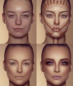 How To Do Make-up – Step By Step Ideas For The Good Look Spotlight contour hypnaughty.make-up samer khouzami mild pores and skin Makeup Contouring, Contouring And Highlighting, Skin Makeup, Highlight Contour Makeup, How To Contour Your Face, Contouring For Beginners, Makeup Cosmetics, Contour Makeup Products, Makeup Eyeshadow
