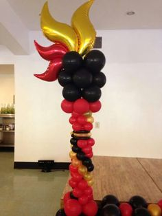 Bf Balloon Columns, Balloon Arch, Balloon Garland, The Balloon, Balloon Decorations, Wedding Decorations, Balloon Ideas, Balloon Stands, Balloon Crafts