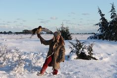 Melissa Dudley and Artemis the red tail Hawk - Hawking around the south shore - Nantucket Mass. #mukluk #stegermukluks
