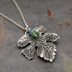 Leaf Pendant by wildharegems4 on Etsy, $18.50