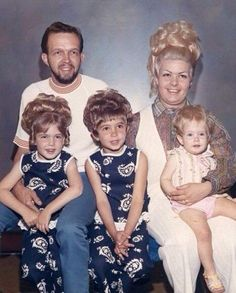 The Tinchbeck Family– two years before baby Caroline entered full-hair mode.