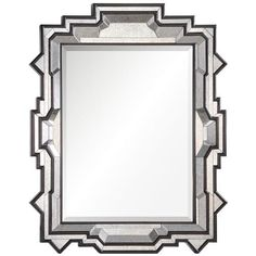 This espresso brown and antiqued mirror has a show-stopping frame, looking trendy and chic all at once.