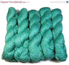 SALE Mulberry Silk Handspun Yarn Twisted Zari/Lurex by SilkDivine