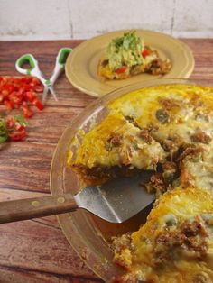 #lowcarb #taco pie shared on https://facebook.com/lowcarbzen