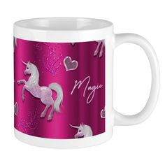 Dancing Pink Unicorns 11 oz Ceramic Mug Dancing Pink Unicorns Mugs by Graphic_Allusions - CafePress Unicorn Crafts, Unicorn Art, Unicorn Birthday Parties, Birthday Party Invitations, Unicorn Foods, Mug Designs, Unicorns, Dancing, Ceramics