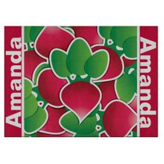 Personalized Radishes Abstract Cutting Board