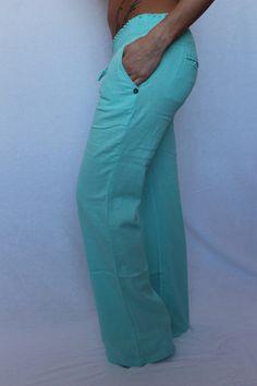 Mint Linen Pants