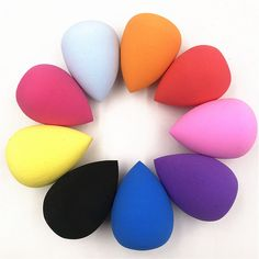 Puff Foundation-Sponge Cosmetic-Puff-Powder Make-Up-Tools-Accessories Makeup Water-Drop-Shape Make Up Tools, Foundation Sponge, No Foundation Makeup, Foundation Application, Makeup Brushes, Eye Makeup, Makeup Sponges, Makeup Blender, Beauty Blender