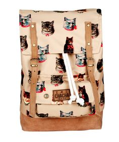 CHACHA BAGS - cat backpack! http://www.chachabags.cl/